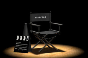 Director's Chair Under Spotlight